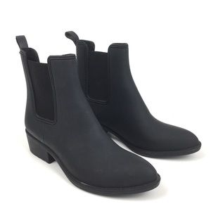Jeffrey Campbell rubber rain boot ankle bootie